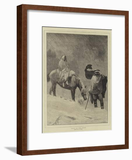 Lost in the Snow-Sir James Dromgole Linton-Framed Giclee Print