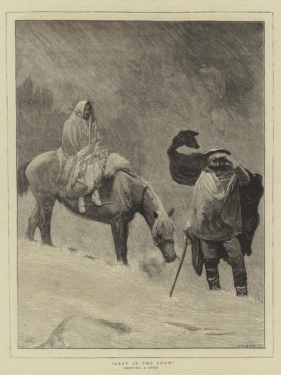 Lost in the Snow-Sir James Dromgole Linton-Giclee Print