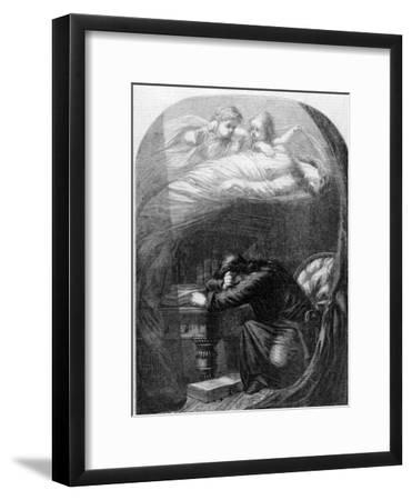 """Lost Lenore"" a Painting by E. H. Wehnert Depicting a Scene from Edgar Allan Poe's ""The Raven"""