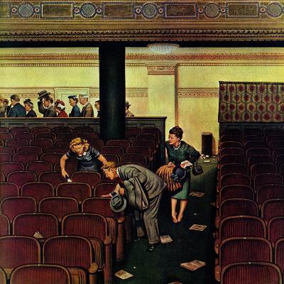 """Lost Shoe,"" December 14, 1946-Stevan Dohanos-Giclee Print"