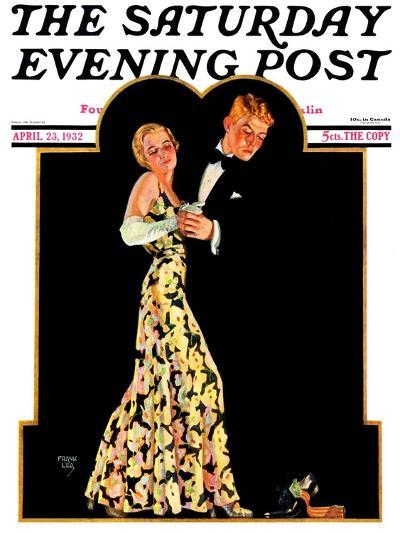 """Lost Suspender,"" Saturday Evening Post Cover, April 23, 1932-Frank Lea-Giclee Print"