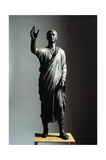 Lost Wax Cast Bronze Statue of Orator--Giclee Print