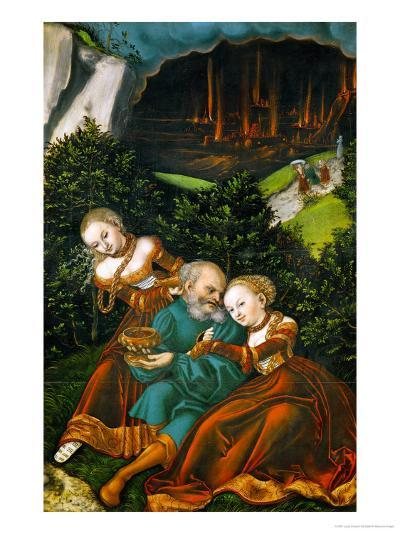 Lot and His Daughters, 1528-Lucas Cranach the Elder-Giclee Print