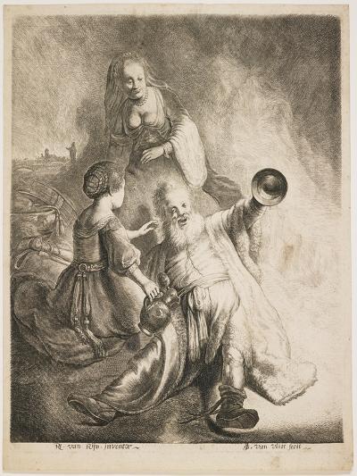 Lot and His Daughters, 1631-Jan Georg van Vliet-Giclee Print