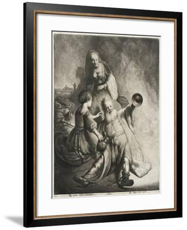 Lot and His Daughters, 1631-Jan Georg van Vliet-Framed Giclee Print