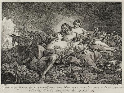Lot and His Daughters, 1748-Joseph-marie Vien The Elder-Giclee Print