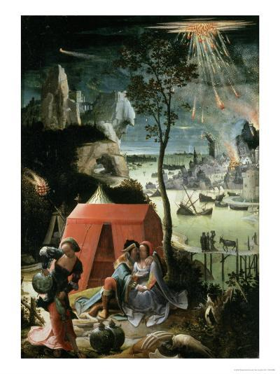 Lot and His Daughters, 17th century-Lucas Van Leyden-Giclee Print