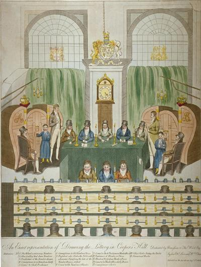 Lottery Draw, Coopers Hall, City of London, 1803-W Charles-Giclee Print