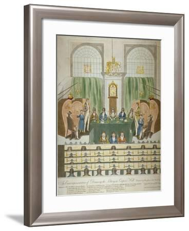 Lottery Draw, Coopers Hall, City of London, 1803-W Charles-Framed Giclee Print