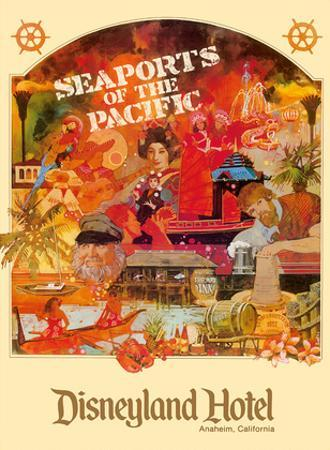 Seaports of the Pacific - Disneyland Hotel - Anaheim, California by Lotts