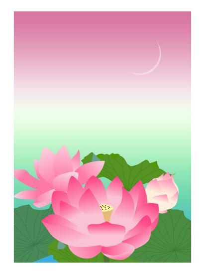 Lotus at Night-Ikuko Kowada-Giclee Print