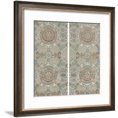 Lotus Brocade II-Oriental School-Framed Giclee Print