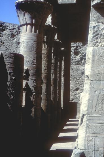 Lotus Capitals, Temple of Horus, Edfu, Egypt, Ptolemaic Period, C251 Bc-C246 Bc-CM Dixon-Photographic Print