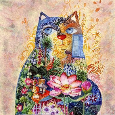 Lotus Cat-Oxana Zaika-Giclee Print