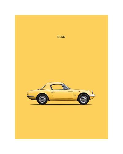 Lotus Elan 1965-Mark Rogan-Giclee Print