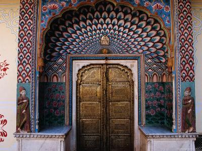 Lotus Gate in Pitam Niwas Chowk in City Palace-Richard I'Anson-Photographic Print