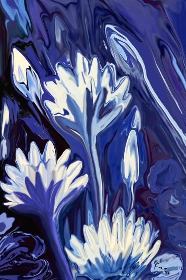 Lotus in Blue-Rabi Khan-Art Print
