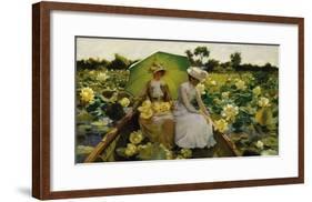 Lotus Lilies-Charles Courtney Curran-Framed Premium Giclee Print
