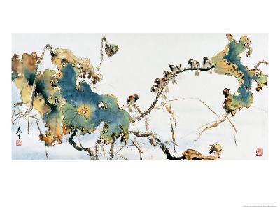 Lotus Pond in Autumn-Wong Luisang-Giclee Print