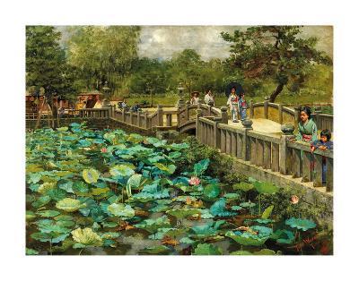 Lotus Pond, Shiba, Tokyo, c.1886-Theodore Wores-Premium Giclee Print