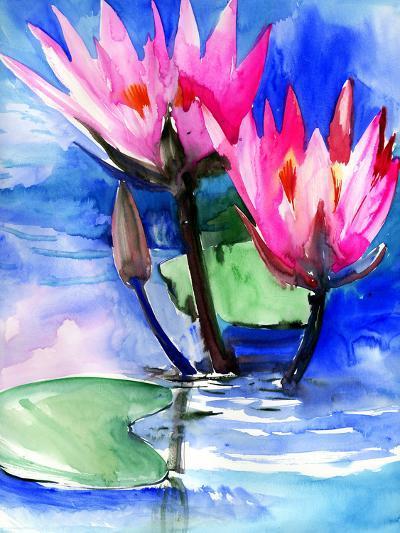 Lotuses 3-Suren Nersisyan-Art Print