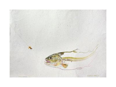 Trout Chasing a Fisherman's Fly (1991)
