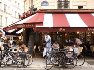 La Pregrille' Restaurant on Rue Saint Severin by Lou Jones