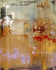 Poppies and Hollyhocks by Lou Wall