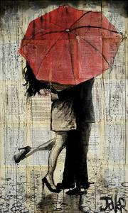 The Red Umbrella by Loui Jover