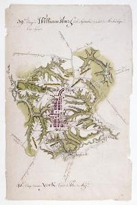 Williamsburg: Map, 1781 by Louis Alexandre Bertheir