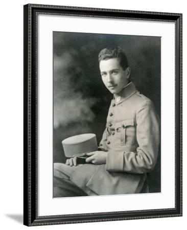 Louis Aragon in Uniform--Framed Giclee Print