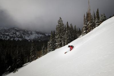 Mike Quigley Skiing Near Brighton Ski Area, Utah, January 2014