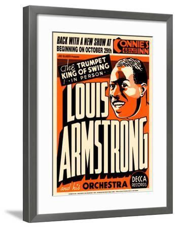 Louis Armstrong at Connie's Inn, New York City, 1935-Dennis Loren-Framed Art Print