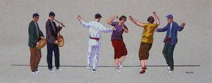 La danse du Fendango au Pays Basque by Louis Benjamin Floutier