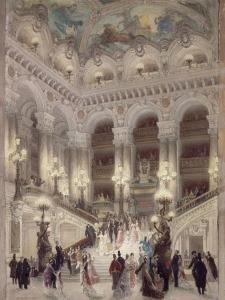 L'escalier de l'Opéra by Louis Beroud