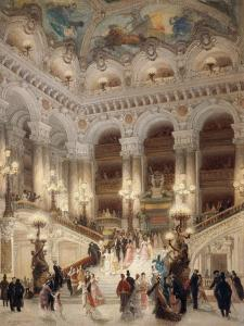 The Staircase of the New Opera of Paris by Louis Beroud