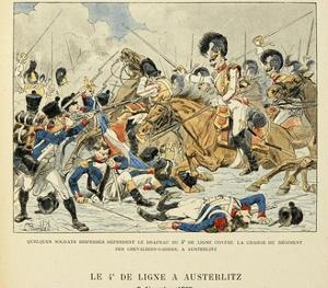 4th Line Infantry in Austerlitz, Dec. 2, 1805, from the Book 'Les Heros Du Siecle' by Louis Bombled