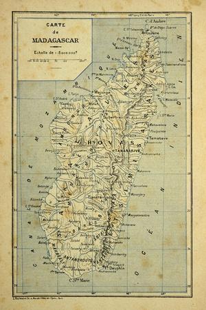 Madagascar War 1885-95, Map of Madagascar