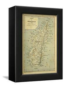 Madagascar War 1885-95, Map of Madagascar by Louis Bombled