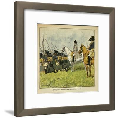 Napoleonic Wars, Emperor Napoleon Observes His Conscripts During a Battle