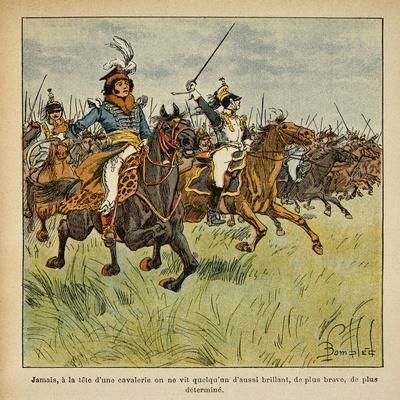 Napoleonic Wars, Joachim Murat Charging at the Head of His Cavalry