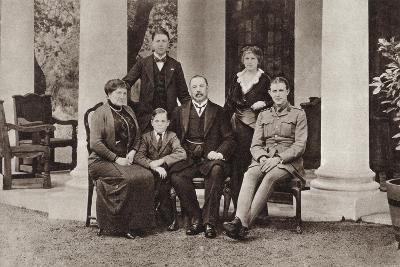 Louis Botha and His Family, from 'The Illustrated War News', Published in 1915--Giclee Print