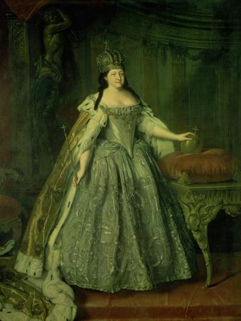 Portrait of the Empress Anna Ivanovna (1693-1740) 1730