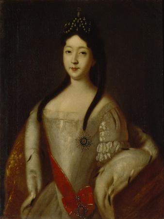 Portrait of the Tsesarevna Anna Petrovna of Russia, the Daughter of Emperor Peter I of Russia, 1725