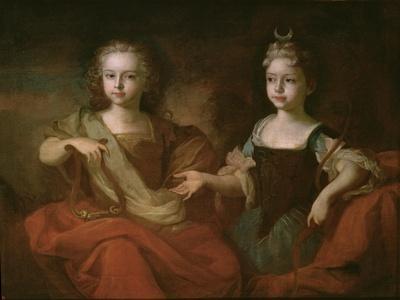 Tsarevich Peter Alekseevitch and Tsarevna Nathalie Alekseevna as Apollo and Diana, C.1722