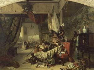 L'atelier de J. Courtois dit le Bourguignon by Louis Charles Auguste Couder