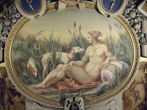 La Nymphe de Fontainebleau Galerie François Ier, quatrième travée nord by Louis Charles Auguste Couder
