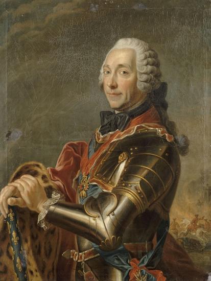 Louis-Charles-Auguste Fouquet, maréchal-duc de Belle-Isle (1684-1761)-Maurice Quentin de La Tour-Giclee Print