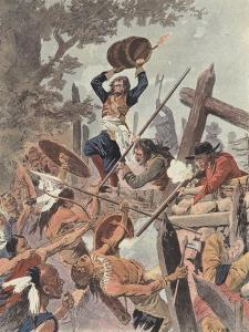 Adam Dollard and His Companions Fighting the Iroquois at the Battle of Long Sault, Canada, 1660 by Louis Charles Bombled