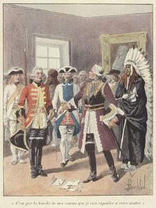 Louis De Baude De Frontenac, Governor General of New France, 1690 by Louis Charles Bombled